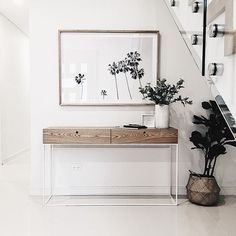 'Neutrals feel calm, clutter-free and are classic. So, bring high style to a room by choosing neutral hues for anything that is expensive to update,' the Bowerbird team suggested Home Staging, Hallway Furniture, Diy Furniture, Australian Interior Design, Small Entryways, Pinterest Home, Entrance Ways, Minimal Home, Interior Design Companies