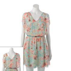 Candies Flutter Sleeve Floral Dress