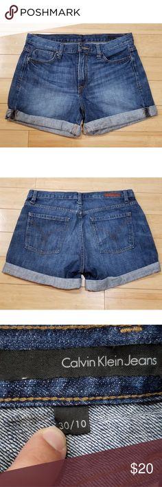 e8615b29a65 NWOT Calvin Klein High Waisted Shorts NWOT Calvin Klein High Waisted Rolled  cuff Jean Shorts