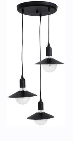 Φωτιστικό Level τρίφωτο (Μήκος: 32 Βάθος: 32 Ύψος: 80)  - 48.99 Decor, Lamp, Light, Lighting, Ceiling, Pendant Light, Home Decor, Ceiling Lights