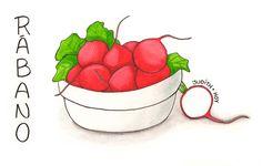 La importancia del rábano | Food Blogging Recetas Cocina Creativa Ilustración de comida Food Illustration