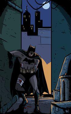 Looks like Batman will be having bandages with breakfast again.