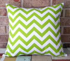 Decorative Pillow Cushions Covers Apple Kiwi Green by SewGracious