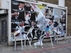 Francisco de Pajaro à Londres   Art is Trash - www.street-art-avenue.com