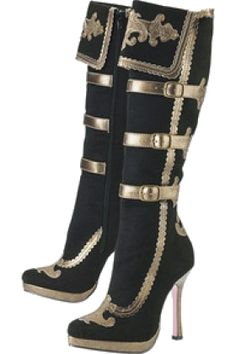 Lady Corsair Boots - New Age & Spiritual Gifts at Pyramid Collection -YAY Pirate Boots! Steampunk Shoes, Gothic Shoes, Lolita Shoes, Steampunk Fashion, Gothic Fashion, Steampunk Pirate, Steampunk Cosplay, Gothic Clothing, Victorian Steampunk