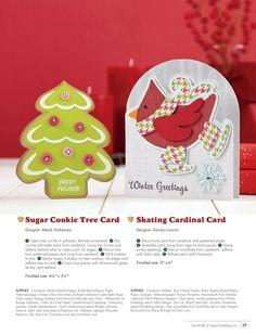 Paper Crafts - November/December 2013 - Page 39- Sugar Cookie Tree Card by Mendi Yoshikawa