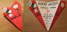 Custom Snoopy Red Baron Paper Airplane Invitation - Personalize Font, Verbiage & More! Perfect for Birthdays, Showers, Announcements, Etc!