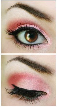 bright pink eye makeup