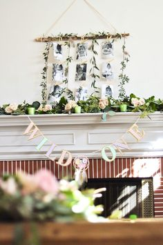 """Greenery + decor from a Minnie Mouse Inspired """"Wild One"""" Birthday Party on Kara's Party Ideas   KarasPartyIdeas.com (20)"""