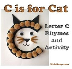 "Your preschool and/or kindergarten students will have fun creating our C Is for Cat letter craft and letter-sound association activities for the hard ""Cc"" sound as in ""cat.""  C Is for Cat Letter Craft What you need"