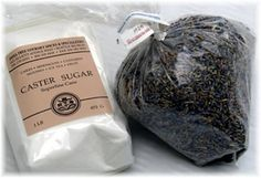 Instructions for making lavender sugar - going to make some of this for my friends since I have so much lavender!