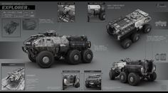 Сonverted civilian ATV. First and last line of defense when things go south. Part of the series of concepts done for an unannounced turn-based strategy by Void Alpha. 3D model by powerpointra...