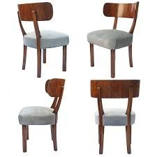 4 Swedish art deco dining chairs by Axel Einar Hjorth for NK Stockholm Library Furniture, Art Deco Furniture, Bar Furniture, Modern Furniture, Office Interior Design, Art Deco Design, Dining Room Chairs, Stockholm, Home Decor