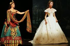 Christine Daee Stage vs Movie Costumes - Think of Me. To be honest, I cannot decide. They are both beautiful and unique. Movie Costumes, Girl Costumes, Costume Ideas, Music Of The Night, Fantasy Costumes, Phantom Of The Opera, Office Dresses, Musical Theatre, Costume Design