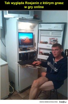 No need to add water cooling to your computer if it is overheating. Just put it in the fridge. - Real Funny has the best funny pictures and videos in the Universe! 9gag Funny, Funny Memes, Jokes, Funny Videos, Hilarious, Reaction Pictures, Best Funny Pictures, Meanwhile In Russia, How To Be Single