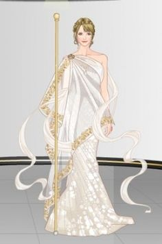 greek goddess dress with gold trim - Google Search