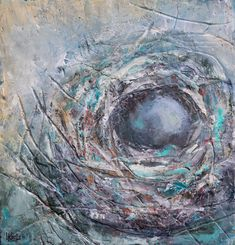 Part of my nest series, 12 x 12, encaustic and mixed media.  To see more of my art or sign up for my newsletter, please visit www.lorrakurtz.com India Ink, Art Journals, Nest, Mixed Media, My Arts, Paintings, Sign, Fine Art, Contemporary