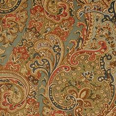 Duralee Pattern #:42069-141 Color Name: JEWEL Book #2727 : Paisley Print Collection