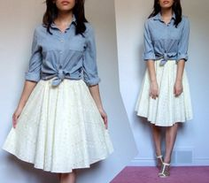Obssessed with long white skirts right now...