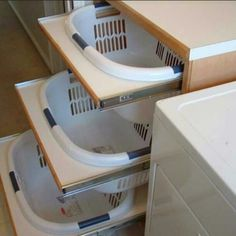 Absolutely a must for any laundry room. Great idea! Via home_decor