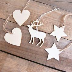 adornos navideos de madera pack de ud