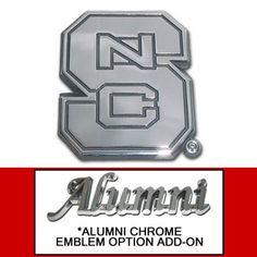 NC State Chrome Emblem