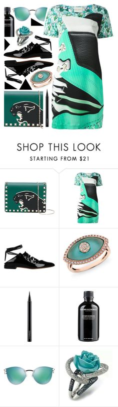 """""""Colorful distraction"""" by sunnydays4everkh ❤ liked on Polyvore featuring Valentino, Mary Katrantzou, Givenchy, Anne Sisteron, MAC Cosmetics, Grown Alchemist and Fendi"""