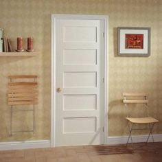 mdf series smooth 5panel equal solid core primed composite interior door slab