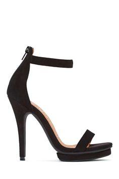Jeffrey Campbell Burke Platform Heel - Black Suede | Shop Shoes at Nasty Gal!