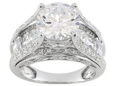 Bella Luce R Round Oval And Baguette Platineve Tm Ring