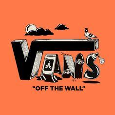 Van Design, Retro Design, Design Art, Print Design, Logo Design, Vans Logo, Skate Art, Retro Logos, Animes Wallpapers
