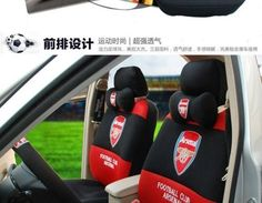 New Football Arsenal Car Seat Covers Accessories Set 18PCS