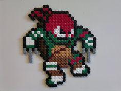 Teenage Mutant Ninja Turtle - Raphael perler beads by Björn Börjesson