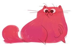 Daily Cat Drawings : Photo http://dailycatdrawings.tumblr.com/post/108623912553/332-pink-persian