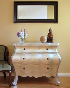 Art For Your Walls, Decor For Your Home: My Silver Leaf Dresser