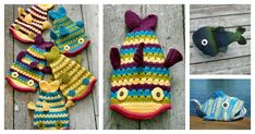 These cute fish hat crochet patterns are perfect if you like fishing! Even if you don't, these funny fish hat will keep you nice and warm.