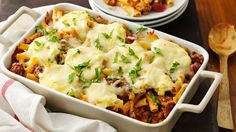 Love lasagna? Then you need to try our Baked Ziti Casserole! Topped with creamy ricotta cheese, filled with warm ziti noodles, and covered in a meaty red sauce, this Italian-inspired Baked Ziti Casserole is out-of-this-world. Sprinkle with fresh basil leaves for a color pop and keep your serving spoon out – there's no doubt everyone will want seconds of this comfort food casserole.