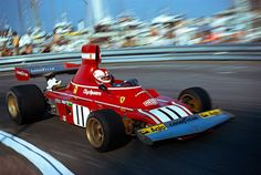 Clay Regazzoni & Ferrari at Monte Carlo, 1974 Ferrari F1, Lamborghini, F1 Racing, Racing Team, Le Mans, Grand Prix, Clay Regazzoni, Lancia Delta, Formula 1 Car