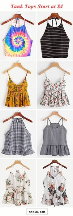 Ideas Diy Clothes Closet Tank Tops For 2019 Teen Fashion Outfits, New Outfits, Casual Outfits, Summer Outfits, Cute Outfits, Diy Clothes Closet, Look Girl, Cute Shirts, Cute Tops