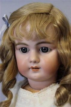 "Pretty 29"" DEP Jumeau Bebe' Doll Open Mouth Blue Eyes Orig.Body, Long.Curls"