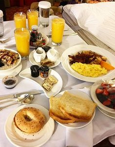 Breakfast in bed | Grand Sierra Resort, Reno Tahoe Nevada