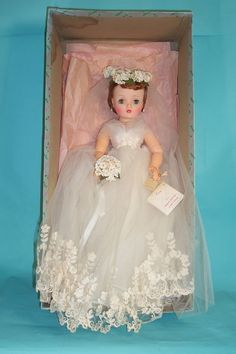 Vintage bride doll. ❤️ I love Bride Dolls.i had one as a kid. My sisters had the bridesmaids,