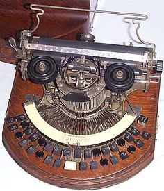 This is a braille typewriter. I love typewriters in general and found this very beautiful.