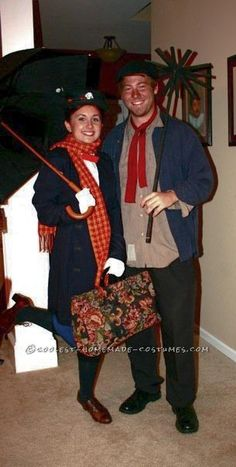 Mary Poppins and Burt the Chimney Sweep Cute Couples Costume - Costume Contest  sc 1 st  Pinterest & Coolest Homemade Mary Poppins Couple Costume | Pinterest | Mary ...