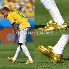 Hot! New Arrival 2014 Men's Nike Soccer Shoes Cleats Boots For Brand Sport Soccer Football Neymar Golden $58.00
