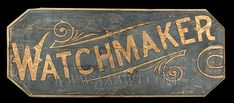 Antique Trade Sign, Watchmaker, Late 19th Century, entire view