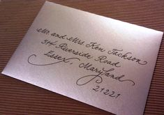 creative calligraphy for addressing envelopes