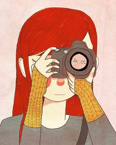 Behind The Lens   8 x 10 Illustration Print by NanLawson on Etsy, $16.00