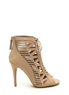 Open toe Stilettos and Lace up on Pinterest