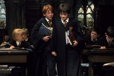 Pin for Later: 450 Pop Culture Halloween Costume Ideas Harry Potter and Ron Weasley